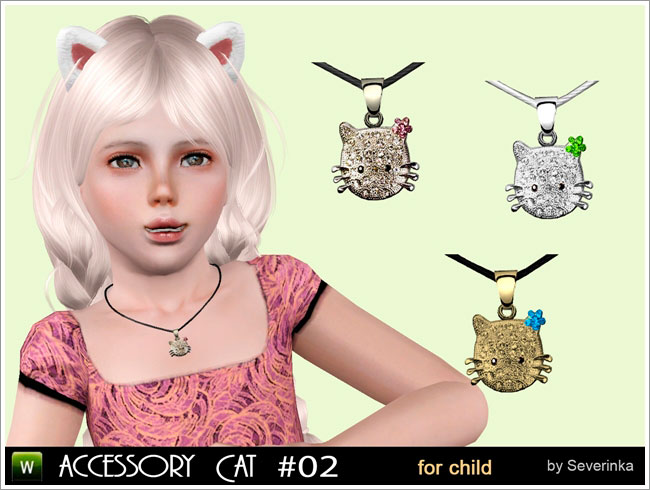 "Necklace ""Kitty"" (set Little kitten for child)"