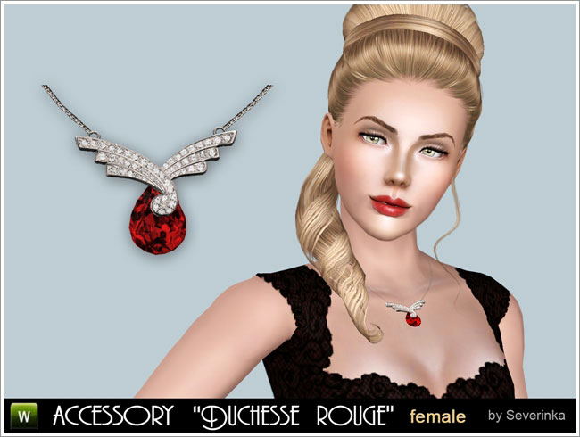 "Accessory necklace ""Duchesse rouge"""
