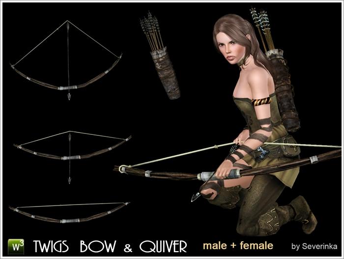 Accessory Twigs Bow & Quiver