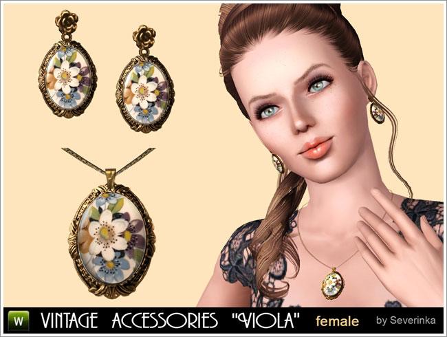 "Vintage accessories set ""Viola"""