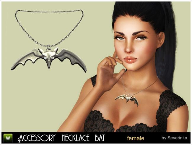 "Accessory necklace ""Bat"""