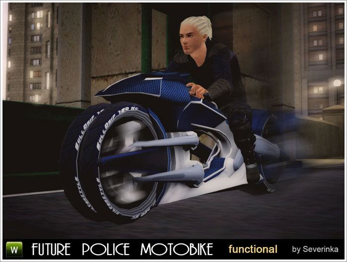 "Functional motobike ""Police Future"""