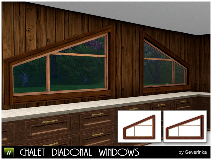 Chalet diagonal windows