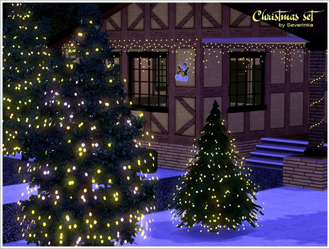 Christmas Decor Sims 3 : Empire sims christmas decor set by severinka
