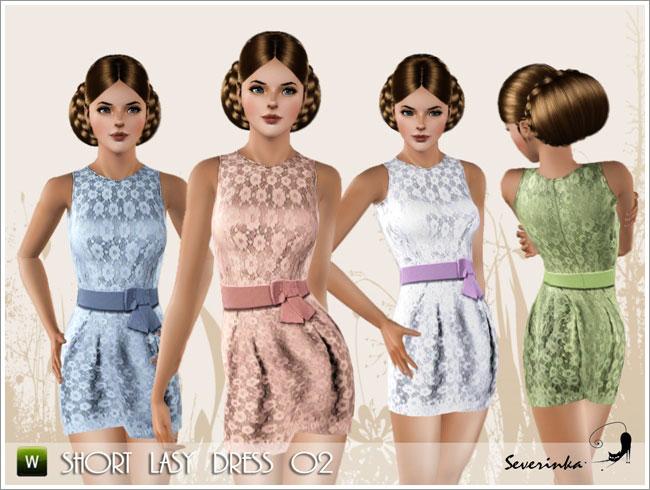 Short lasy dress #02
