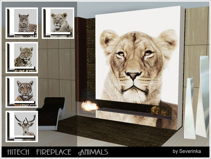 Hitech fireplace Animals