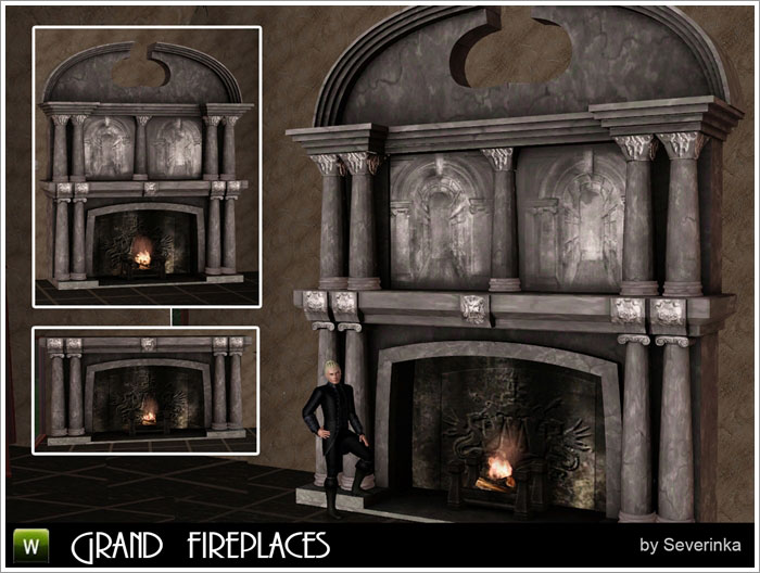 Grand fireplace by Severinka