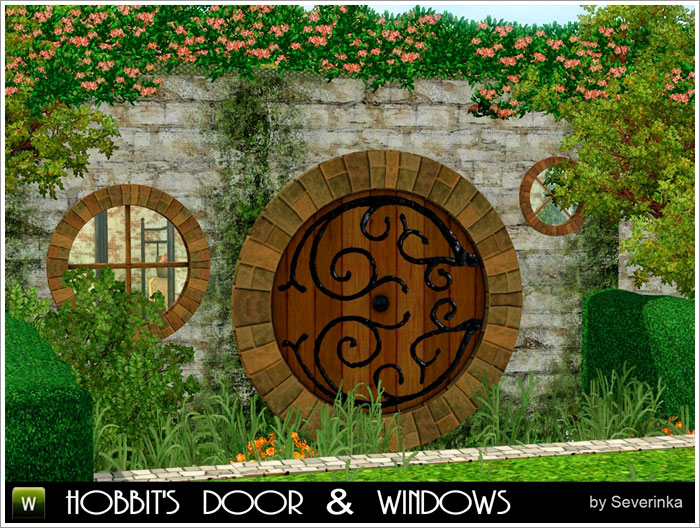 Hobbit's door & windows