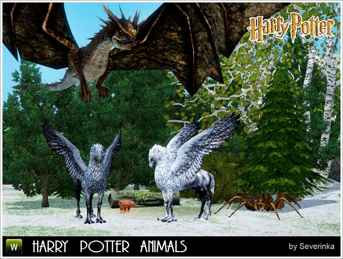 Harry Potter animals (декор)