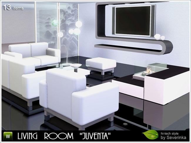 Sala de estar juventa the sims ffc for Sala de estar sims 4