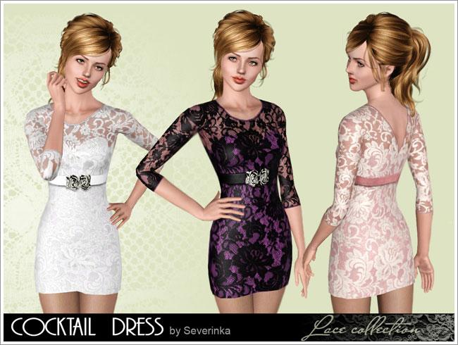 Женщины | Платья Lace-cocktail2