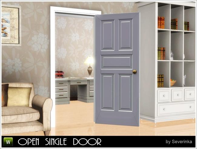 Открытая межкомнатная дверь