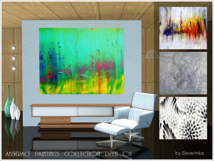 Abstract paintings collection DZEN