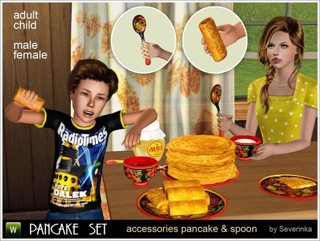Pancake Set (8 объектов + 4 аксессуара)