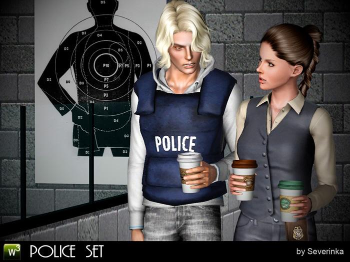 Police set (аксессуары+декор)