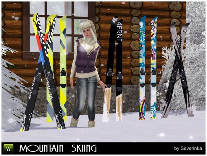 Mountain skiing