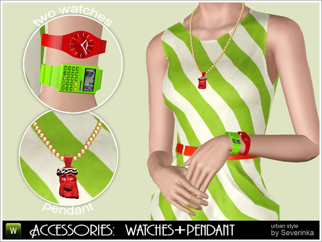 """Accessories """"Two watches&Pendant"""""""
