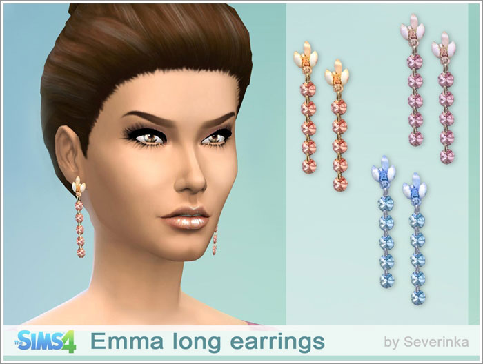 Emma long earrings