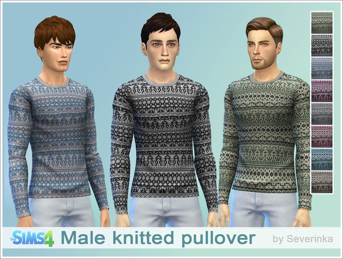 Male knitted pullover by Severinka