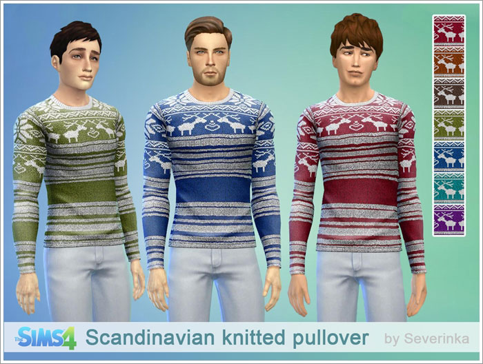 Scandinavian knitted pullover by Severinka