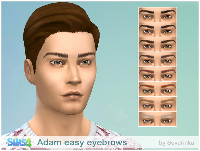 Adam realistic eyebrows