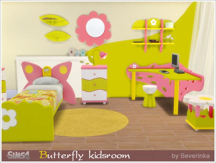 Предметы для детской - Страница 2 Butterflykidsroom1