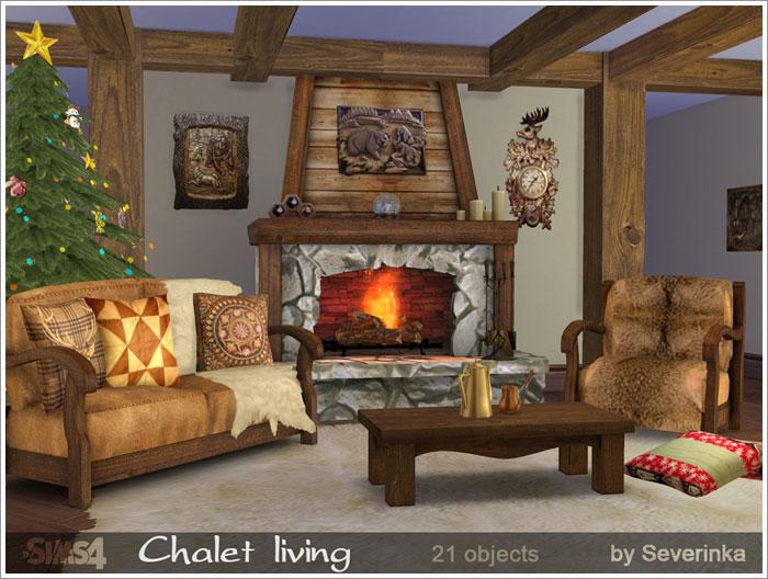 Предметы для гостиной - Страница 2 Chalet1