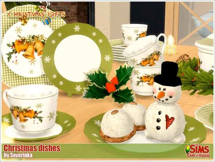 Предметы для Новогодних и Рождественских праздников Christmasdishes700-1