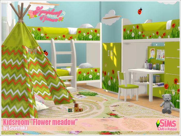 Предметы для детской - Страница 2 Flower-meadow1
