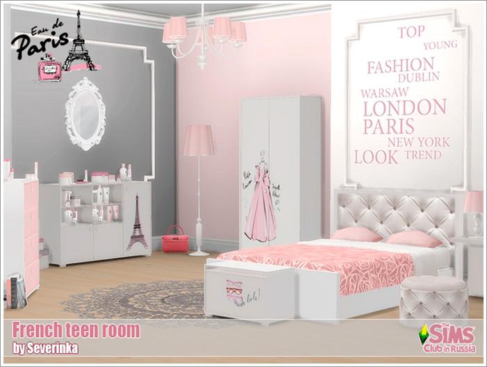 Предметы для спальни - Страница 2 French-teenroom1