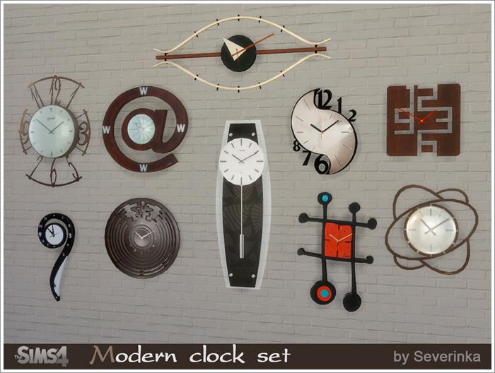 Предметы декора - Страница 2 Modern-clock1