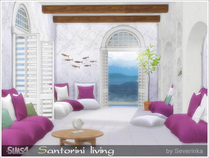 Предметы для гостиной - Страница 2 Santorini-living1
